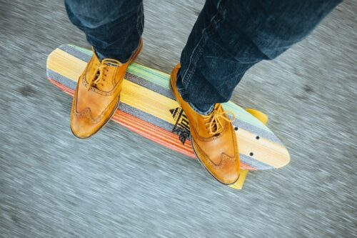 skateboard with any shoes